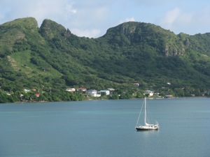 Anchored in Providencia ... A Safe Island
