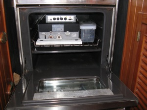 SSB & Pactor Modem Stored in Oven