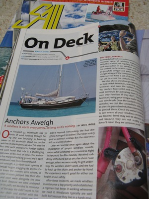 Anchors Aweigh, SAIL Magazine, November 2010