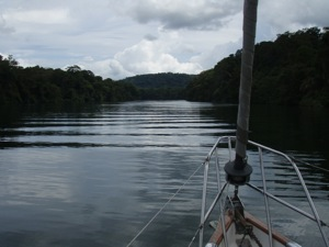 Past The Sandbars, Headed Up The Rio Chagres