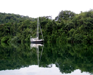 Winterlude Anchored on the Rio Chagres