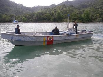 Columbian Guarda de Costa Greets Us in Sapzurro