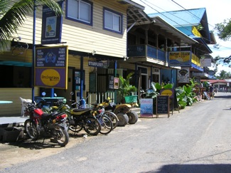 Bocas Town Street Scene - Lemongrass is on the left