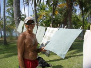Drying Laundry in the San Blas Islands