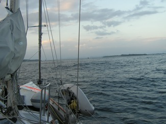 Approaching the Bocas Sea Buoy at Dawn from San Andreas