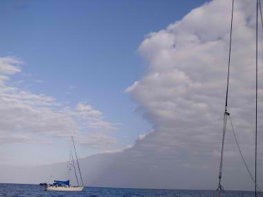 A Nasty Norther Moving in to Lighthouse Reef Atoll, Belize