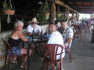 Happy Hour at Cucumber Beach Marina Bar