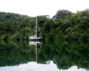 WL Anchored on the Rio Chagres