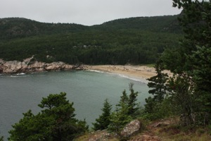 Sand Beach from Great Head Trail