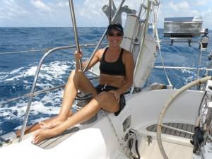 Jan Enjoying The Last Sail