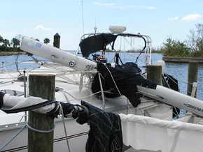 Roller Furling Jib Left On During Hurricane Charley, Cat 4, Punta Gorda, FL Direct Hit 2004