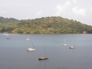 Winterlude (Far Dark Hull) Anchored in Portobelo, Panama