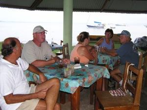 David and Friends, Enjoying Happy Hour at the Bocas Marina Bar