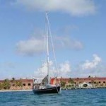 Winterlude Anchored at Ft Jefferson, the Dry Tortugas, Florida Keys