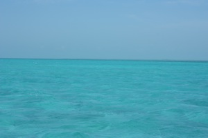 Sailing Along Belize, Mainland in the Distance
