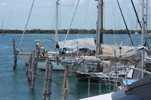 Marina Paraiso - To Get to the Dock, Climb Over Your Bow or Stern...I Only Fell in Once...