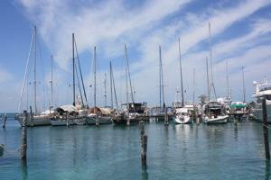 Winterlude in Marina Paraiso, Dark Hulled Sailboat