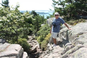 David Rock Trail Hiking in Acadia National Park, Mt Desert Island, Maine