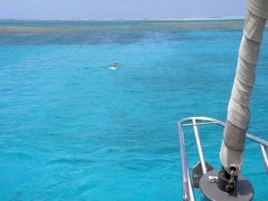 Snorkeling on the Anchor