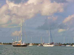 Anchorage at Isla Mujeres, Open to the Northwest During Northers, Not Great Holding