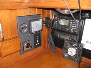 SSB Radio, Icom M802, a critical safety precaution aboard