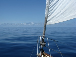 1st Two Photos:  No Wind, Motorsail Crossing from Isla to Charlotte Harbor, FL