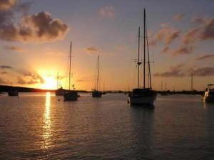 Sunset in the Mooring Field, City Marina, Boot Key Harbor