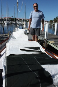 Out of the Bag, Jib is Flaked on the Foredeck and Ready to Raise