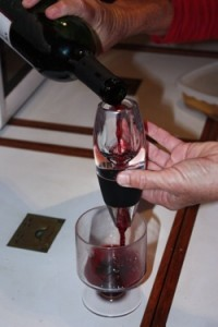 Aerating Wine Aboard