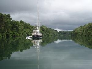 Anchored in the Rio Chagres, a Jungle Paradise