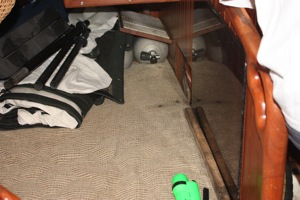 Oil in Upholstery in Quarterberth