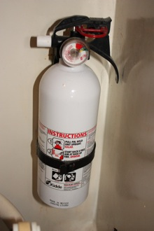 Fire Extinguisher Mounted in the Head