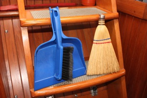 Dust Broom and Dustpan - The Out Cruising Hi-Tech Option!