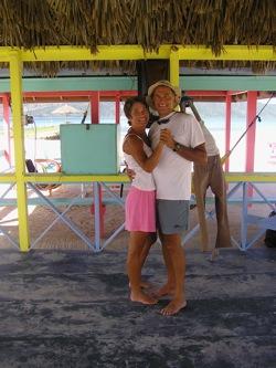 1st Anniversary, Dancing at Grahams Place/Josh's Cay, Guanaja, Bay Islands, Honduras