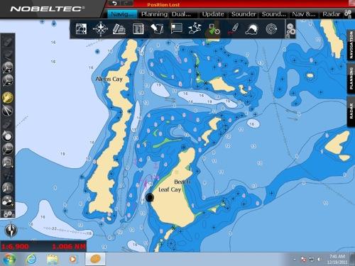 Nobeltec Odyssey Screenshot Bahamas Allens Cay  24 44.860N    76 50.251W