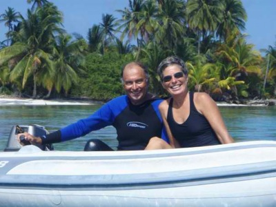 David & Jan in the San Blas Islands, When We Didn't Have to Worry About Getting Six Months of Meds to Leave & Enjoy!