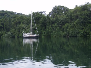 Winterlude Anchored in the Serenity of the Rio Chagres, Panama