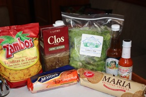 Our Favorite Cruising Discoveries:  Zambos Plantain Chili Chips (Honduras), Clos Box Wine (Central America),