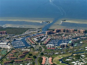 Burnt Store Marina Aerial View Showing the Channel - Easy Access to Charlotte Harbor!