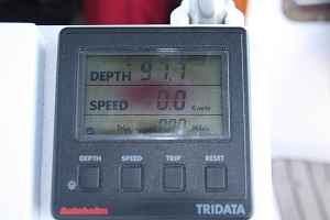 Whacko Autohelm Tri-Data Depth Sounder - showing 97 ft when we're in 7 ft?