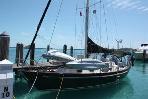 Winterlude at the Blue Water Marina, Bimini