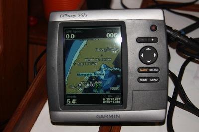 The Garmin Depth Sounder WORKS!  (Bottom Left Hand Corner)