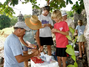 Coloring Easter Eggs Beneath the Ancient Spanish Forts