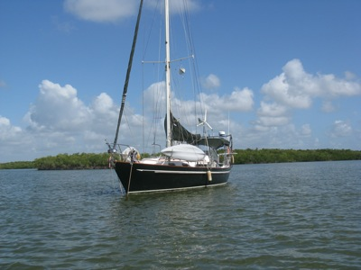 Anchored in Russell Bay, Everglades