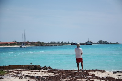David observes comings & goings out the main channel at Bimini