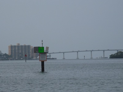 Marker 101 Signifies the Start of the Miserable Mile - the Sanibel Causeway Bridge In The Background