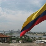 Columbia Flag Overlooks Cartagena