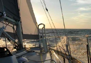 Leaving the Chesapeake, to sail south.