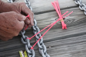Marking the anchor chain insures we have as much scope out as it