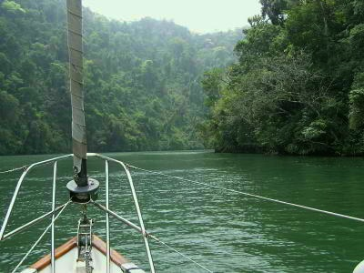 Heading into the famous Rio Dulce Canyon National Park